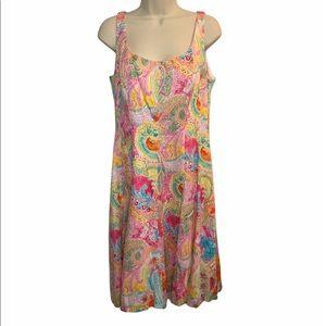 CHAPS Ralph Lauren Floral Paisley Print Dress 12